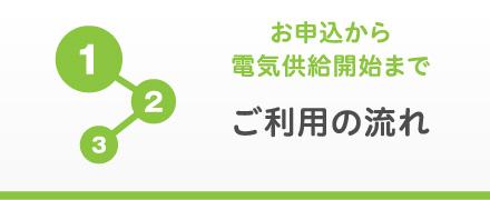 123お申込から電気供給開始までご利用の流れ