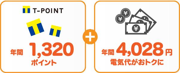 中国電力 従量電灯AとサミットエナジーTポイントプランの比較